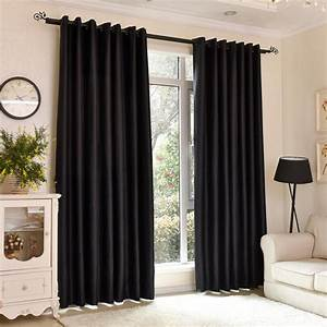 fashion solid black curtains windows home bedroom blackout With black drapes for bedroom