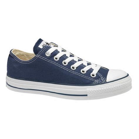 converse navy blue all canvas ox low from