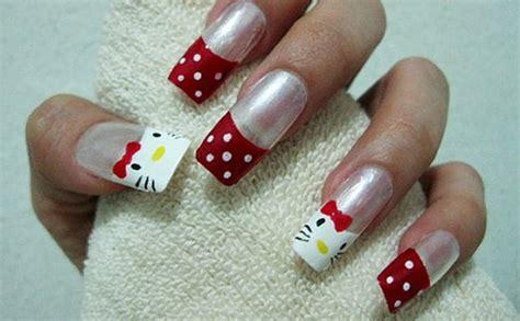 15 + Cute & Simple Hello Kitty Nail Art Designs & Stickers