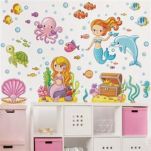 Wandtattoo Unterwasserwelt Kinderzimmer : wandtattoo kinderzimmer meerjungfrau unterwasserwelt set ~ Sanjose-hotels-ca.com Haus und Dekorationen
