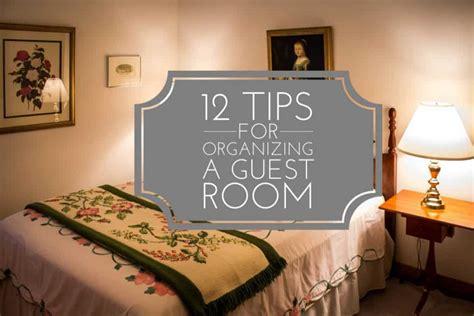 tips  organizing  guest room  task organizing