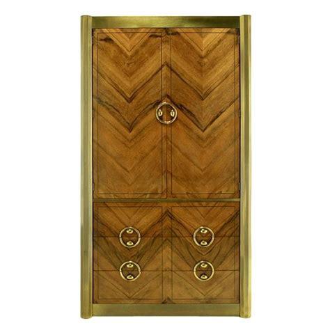 mastercraft oak cabinet doors mastercraft zebrano wood and patinated brass tall wardrobe