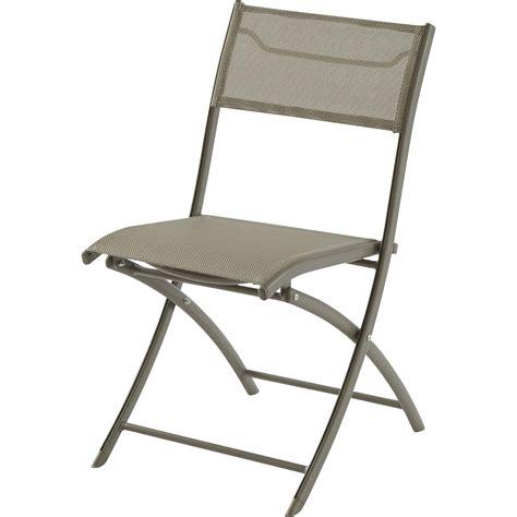 chaise de jardin en aluminium cappuccino leroy merlin