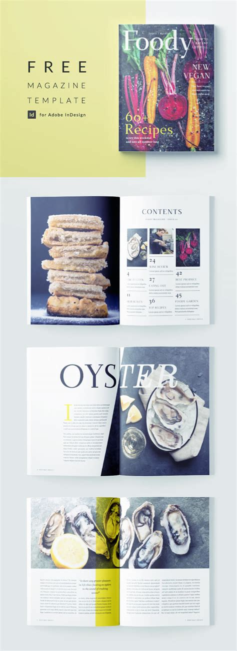 stylish food magazine template  indesign
