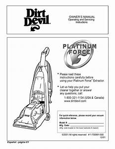 Dirt Devil Dash Owners Manual