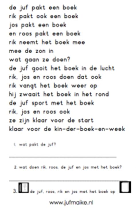 Werkbladen Taal Lezen Groep 3 by Begrijpend Lezen Werkblad Voor Beginnende Lezers Kleuters