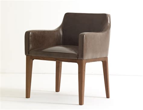 Ulivi Lola Dining Armchair Brown Leather
