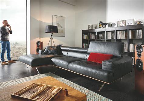 canapé d angle large assise canap 233 avec chaise longue temperant pm cuir ou tissu