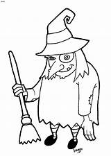 Halloween Witch Cartoon Witches Coloring Clip Clipart Cliparts Library sketch template