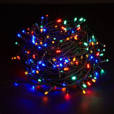 100 battery operated multi coloured multi function led net
