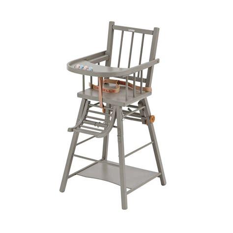 chaises haute chaise haute transformable laqué gris clair combelle pour
