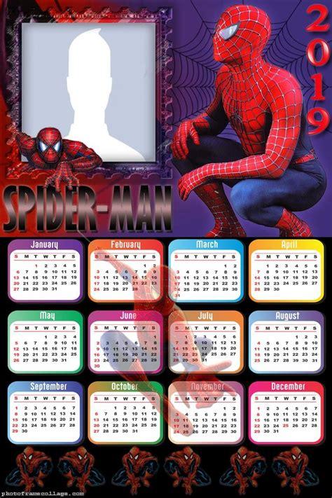 printable spiderman  calendar   fiesta