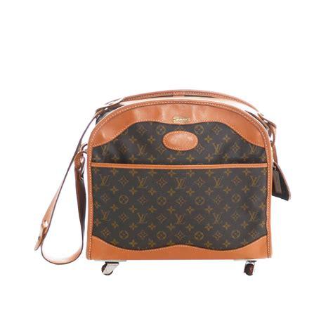 authentic vintage louis vuitton rolling monogram canvas weekender bag luggage  stdibs