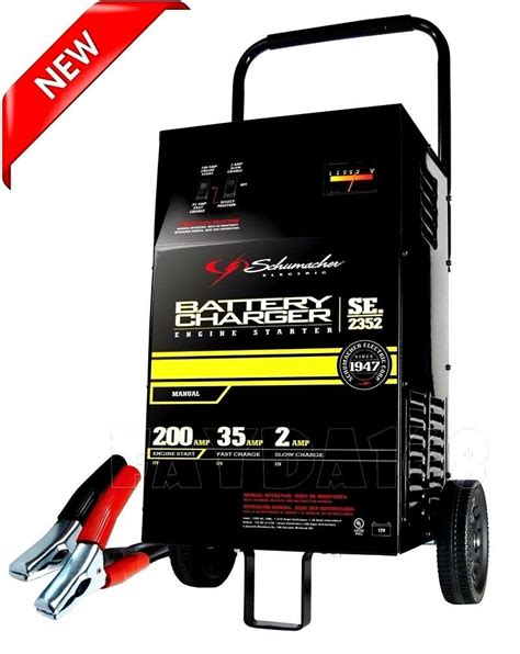 heavy duty  car battery charger portable booster power jump starter  amp  ebay