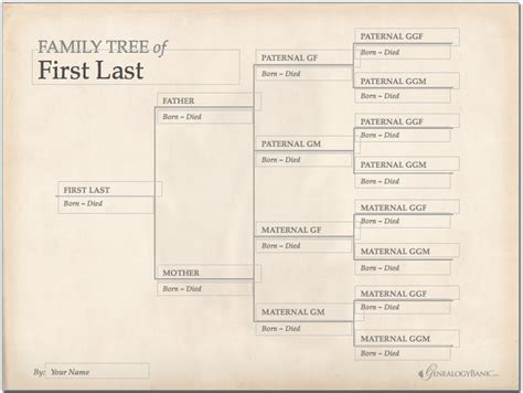 family tree template finder  charts  genealogy