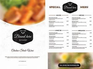vintage food menu template free download With cafe menu design template free download