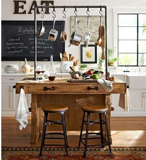pottery barn kitchen islands rustikal k 252 che k 252 cheninsel moderne k 252 che aequivalere 4378