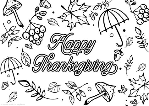 printable thanksgiving coloring page coloring