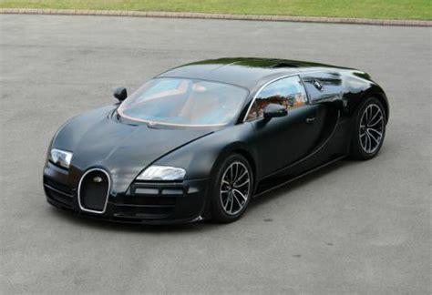 Matte Black Bugatti Veyron Super Sport