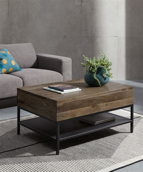 Tribesigns black lift top coffee tables for living room. Lomond Lift Top Coffee Table with Storage, Mango Wood and Black   MADE.com
