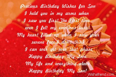 sons  birthday quotes quotesgram
