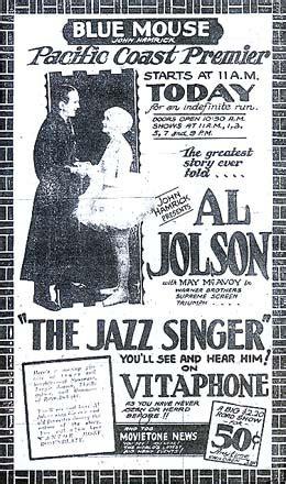 jazz singer  successful feature film  sound