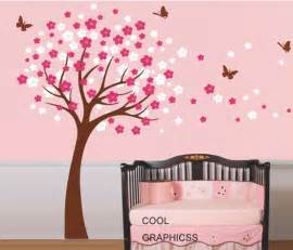 cherry tree wall decal nursery wall decals trees wall sticker