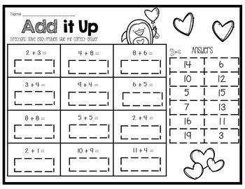 s day addition and subtraction up to 20 centers and worksheets