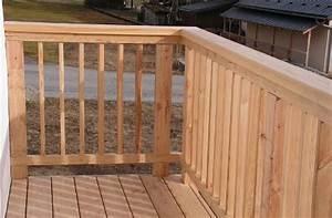 le garde corps en bois lindemodable modele de decoration With modele escalier exterieur terrasse 8 balustrade bois exterieur pas cher