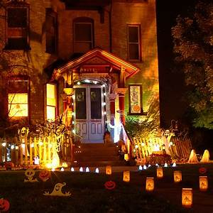 Spooky, Outdoor, Decorations, For, The, Halloween, Night