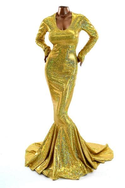 Gold Holographic Emmy Gown – Coquetry Clothing