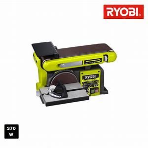 Ponceuse à Bande Stationnaire : ryobi ponceuse bande et disque stationnaire 370w ~ Premium-room.com Idées de Décoration