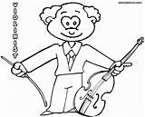 Violin Coloring Pages Fiddle Colour String Colorings sketch template
