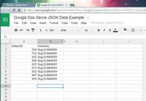 Web Form To Spreadsheet How To Use Doc Serve Json From Excel Spreadsheet Of Windows