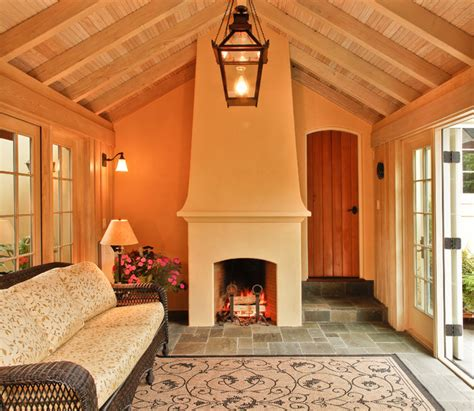 sunrooms with fireplaces sunroom with fireplace traditional sunroom seattle by tim andersen architect