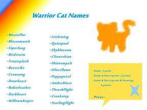 cat name generator cool warrior cats warrior cat names for she cats