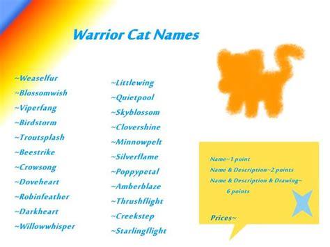 cat names cool warrior cats warrior cat names for she cats warrior cats pinterest warrior cats and cat