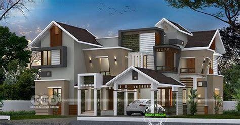 square feet  bedroom sloping roof home design kerala home design  floor plans