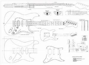 Full Scale Plans For The Fender Stratocaster Deluxe Hss