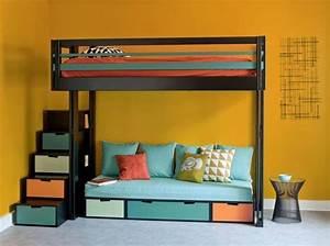 Ikea Lit En Hauteur : 10 solutions pour am nager le dessous d un lit mezzanine ~ Teatrodelosmanantiales.com Idées de Décoration
