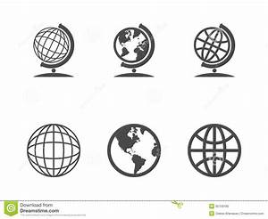 Globe icons stock vector. Illustration of computer, europe ...