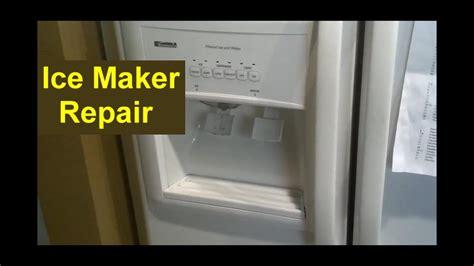 kenmore coldspot refrigerator ice maker repair auger ice pusher home repair series youtube