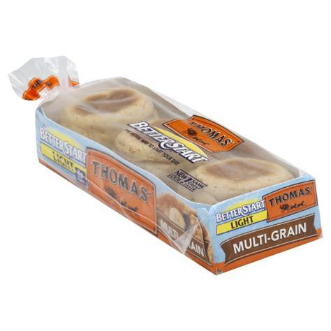 thomas 39 better start english muffins multi grain light 6 ct