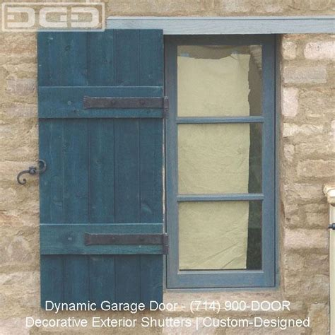 Tuscan Architectural Exterior Shutters from Dynamic Garage