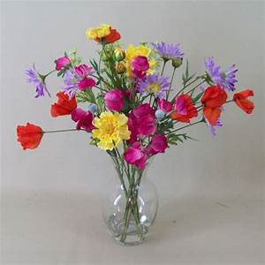Artificial Flower Arrangement Mixed Garden Flowers in ...