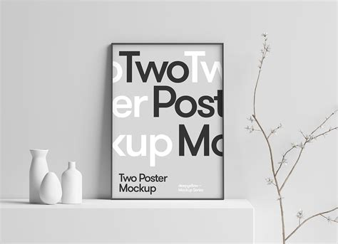 A collection of three stationery mockups, featuring letterheads, envelopes, business cards, and office utensils. Free 3D Scene Photo / Poster Frame Mockup PSD - Good Mockups
