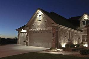 House down lighting outdoor accents garage