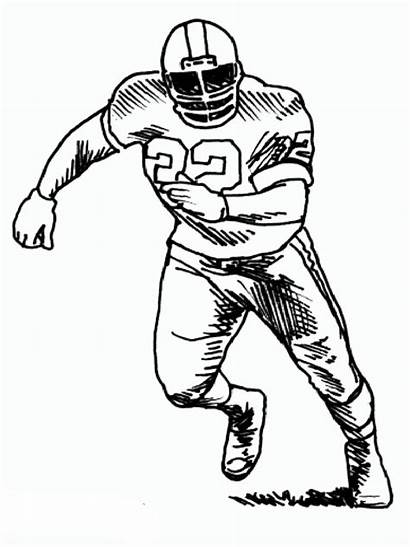 Football Coloring Pages Nfl Player Players Drawings