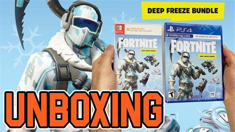 fortnite deep freeze bundle psswitch unboxing youtube