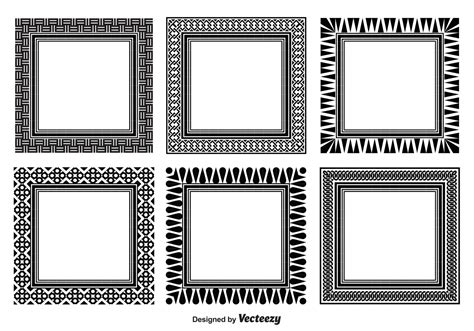 assorted decorative frame set   vectors